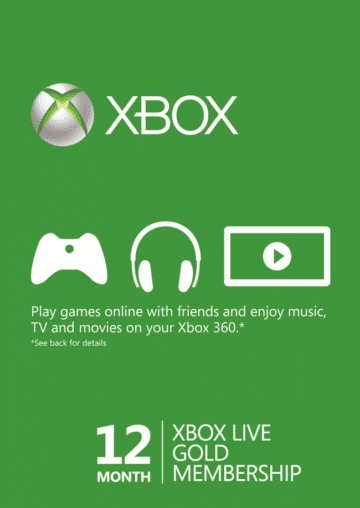 XBOX LIVE GOLD SUBSCRIPTION (ONE/360) - 12 MESECI CENA